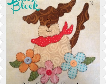 My Favorite Things Quilt Doodle Designs June's Block 2015