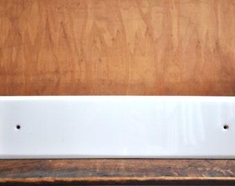 Vintage White Glass Push Plate E2066