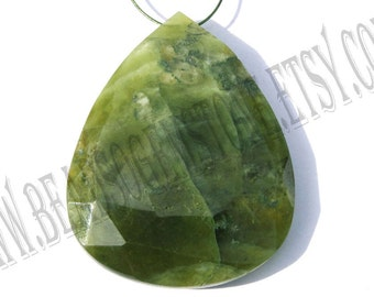 Vasonite Faceted Focal Pear Pendant (Quality B) / 27x33x7.5 mm / 11 to 13 Grms / 1 pcs / VA-012