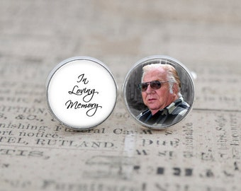 In Loving Memory, Memorial Cufflinks, Wedding Cufflinks, Photo Cufflinks for the Groom