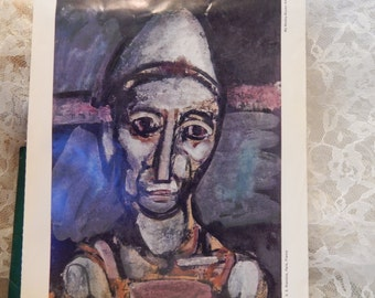 The Old Clown by Georges Rouault  Vintage print from ''My Weekly Reader Art Gallery 2''