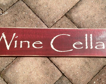Chic Shabby WINE CELLAR wood sign Choose Color