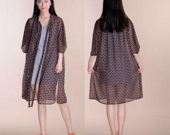 Chiffon sleeve lining dress shawl