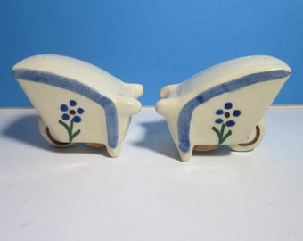 vintage ceramic salt & pepper shakers, wheelbarrows