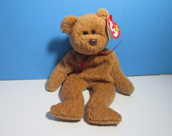 vintage ty beanie baby bear, curly, free shipping