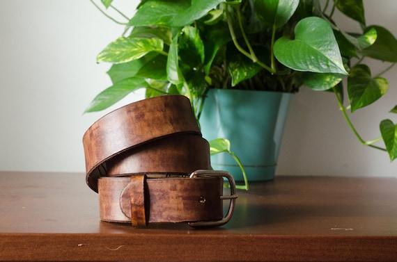Leather Belt with Secret Message Inside