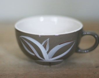 vintage winfield coffee cup taupe with white