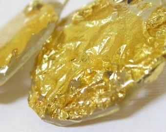 Gold Earrings.Gold leaves Earrings.Dangle Earrings.Gold Leaves jewelry Goldfilled Earrings