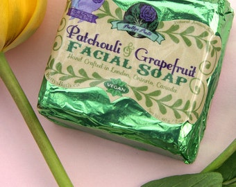 Patchouli and Grapefruit Essential Oil Facial Soap
