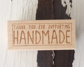 Wood Stamp: Support Handmade