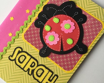 PERSONALIZED Composition Book - Lady Bug