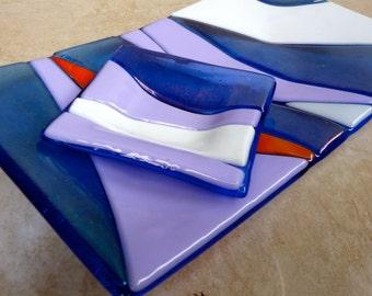 SALE Kohala Skies Dish Set Shelly Batha Island Fused Glass