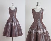 Curtain Call . vintage 1950s dress . vintage dress . 5086