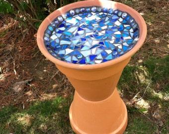 Bird bath, Mosaic Birdbath