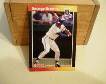 George Brett, Donruss, Card, Vintage Baseball Card, Royals, MLB Card, Baseball Card, Hall of Famer ,Baseball Card,Collectible, MLB, Baseball