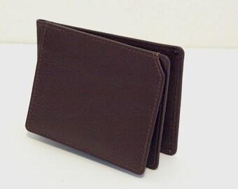 Genuine Leather Men / Gents Vintage Money clip Wallet, hard to find