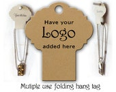 Necklace Display  Fold Over Hang Tags  Necklace Hair Accessories Jewelry Display # 0144 Hair Band Holder