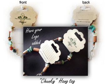 Necklace Cards #0247 Hang Tag Bracelet Tags Fold Over Tags