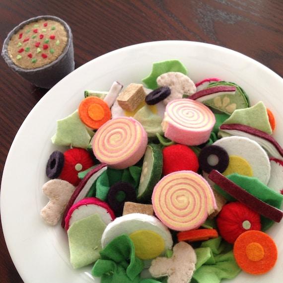 Felt Food Toys R Us : Felt salad play food pattern chef s set diy