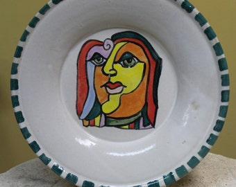 Cubism Stoneware  Plate