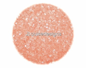 Pastel PEACH SUGAR CRYSTALS Edible Sprinkles Cake,Cakepops, Cookie and Cupcake Sprinkles Confetti Decorations