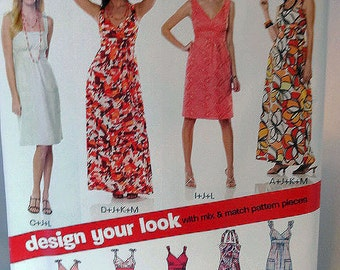 New Look 6774, Misses' Dress Pattern, Sewing Pattern, Mix and Match, Misses' Size 10 to 22, Uncut