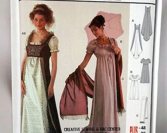 Burda 2493, Costume Sewing Pattern, Misses' Josephine Dress Costume Pattern, Sewing Pattern, Sizes 10-22, Uncut