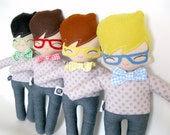 Bow Tie Billy Rag Doll - MADE TO ORDER