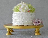 """Gold Cake Stand 20"""" Cupcake Gold Cake Topper Vintage Rustic Wedding Event Decor E. Isabella Designs. As Featured In Martha Stewart Weddings"""