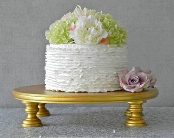 "Gold Cake Stand 20"" Cupcake Gold Cake Topper Vintage Rustic Wedding Event Decor E. Isabella Designs. As Featured In Martha Stewart Weddings"