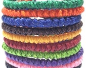 Fair Trade Knotted Wax Cotton Cord Thai Buddhist Wristband Classic Handcrafted Wristwear