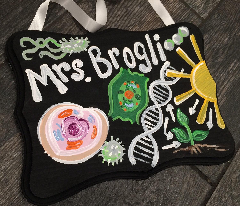 Biology Teacher Sign Teacher Door Sign Hanger Chemistry