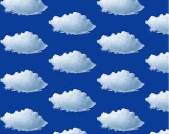 Clouds in a Blue Sky Fabric - Original Fabric Design by SBMathieu