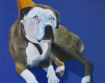 Custom Pet Portrait Painting by SBMathieu