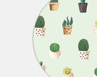 Mouse Pad Mousepad Mouse Pads Succulent Cactus Office Desk Accessories Office Supplies Office Decorations Cute Mouse Pad Mint Green