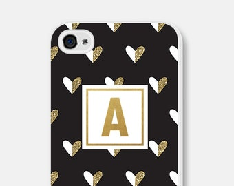 iPhone 6 Case Monogram iPhone 6s Case Personalized Phone Case Samsung Galaxy S7 Case Womens iPhone 5s Case Gold Samsung Galaxy S5