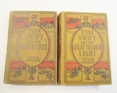 2 Antique Tom Swift Books Victor Appleton Young Adult Adventure 1912