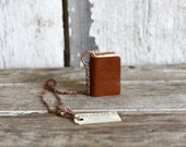 Book Necklace: Autumnal Nutty Brown by Peg and Awl