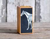 Farm Animal Candleblock: No. 2, Smokestack Invisible Horse - by Peg and Awl