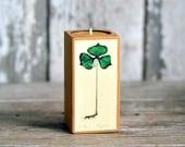 Colored Botanical Candleblock: No. 1, Smokestack Trillium Latifolium - by Peg and Awl