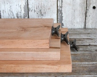 Cutting and Serving Board, Cheese Board, Personalized Cutting Board, Reclaimed Wood, Bread Board, Serving Tray, Butcher Block, Peg and Awl