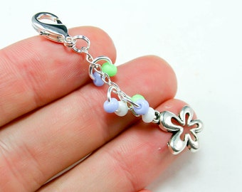 Flower Charm. Custom Flower Girl Charm for Weddings. Custom Keychain Charm.BRC010