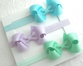 Baby Bow Headbands ~ Newborn Headbands ~ Baby Headbands ~ Bow Headbands ~ Baby Headband Set ~ New Baby Girl Gift