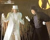Simplicity Costume Pattern 4083 - Men's Jekyll & Hyde Costumes - Victorian Coat, Cape, Vest, Dickey, Top Hat - Sz XS/S/M