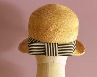 "Short Brim Cap style Straw Hat ""Gigi"""