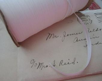 10 yards vintage ribbon - 5mm wide - white - rayon/rayon blend