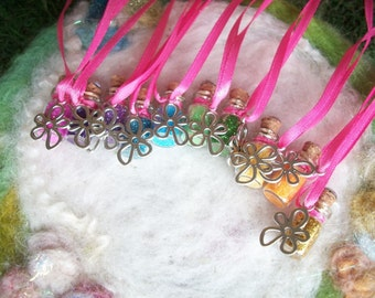 Party Favors, Daisy Flower Power Hippie Pixie Sparkles 10 Necklaces Flower Fairy Happy Birthday Gnome Princess Small Gift,Prize,Offering