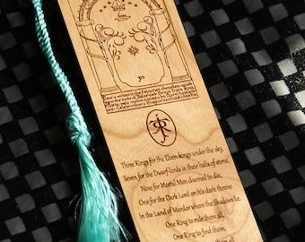 LOTR Style Bookmark, Doors Of Durin Bookmark, Gates Of Moria Bookmark, Bookmark