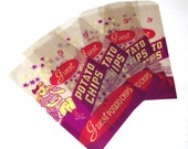 Vintage Potato Chip Bags, 4 Guest Brand Chips Packets (A1)