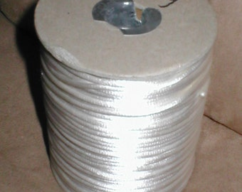 Ivory Satin 2mm Rattail Cord